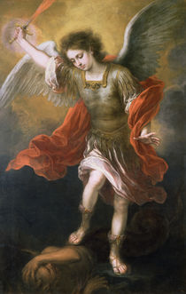 Saint Michael banishes the devil to the abyss by Bartolome Esteban Murillo