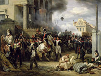 The Gate at Clichy during the Defence of Paris by Emile Jean Horace Vernet