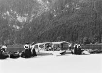 Boats at Konigssee von Jousset