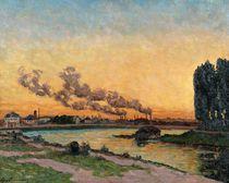 Setting Sun at Ivry von Jean Baptiste Armand Guillaumin