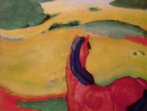 Horse in a landscape by Franz Marc