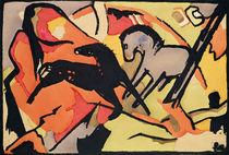 Two Horses von Franz Marc