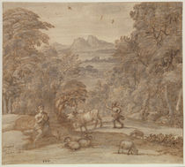Landscape with Mercury and Apollo as a Shepherd by Claude Lorrain