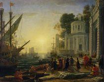 Cleopatra Disembarking at Tarsus by Claude Lorrain