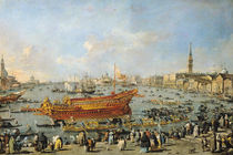 Departure of the 'Bucentaur' for the Lido on Ascension Day by Francesco Guardi
