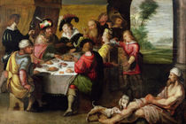 The Parable of the Rich Man and Lazarus  by Frans II the Younger Francken