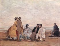 On the Beach at Trouville by Eugene Louis Boudin