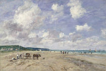 The Beach at Tourgeville von Eugene Louis Boudin