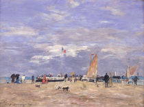 The Jetty at Deauville by Eugene Louis Boudin