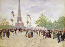 Entrance to the Exposition Universelle by Jean Beraud