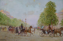 The Promenade on the Champs-Elysees  by Jean Beraud