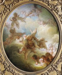 The Swarm of Cupids by Jean-Honore Fragonard