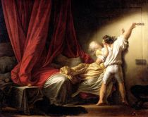 The Bolt by Jean-Honore Fragonard