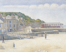The Harbour and the Quays at Port-en-Bessin by Georges Pierre Seurat