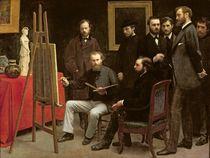 Studio at Batignolles by Ignace Henri Jean Fantin-Latour