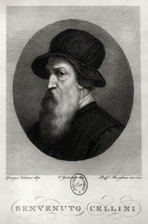 Portrait of Benvenuto Cellini  von Giorgio Vasari