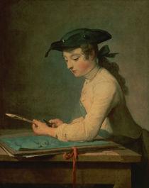 The Young Draughtsman von Jean-Baptiste Simeon Chardin