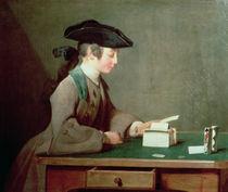 The House of Cards von Jean-Baptiste Simeon Chardin