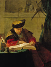 A Chemist in his Laboratory by Jean-Baptiste Simeon Chardin