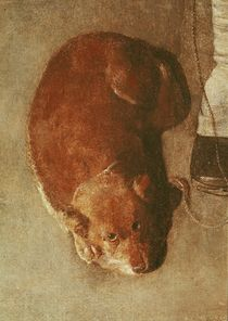 The Hurdy Gurdy Player with his Dog von Georges de la Tour