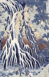 Kirifuri Fall on Kurokami Mount von Katsushika Hokusai