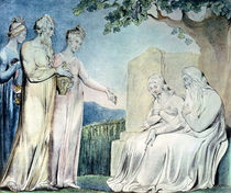 Illustrations of the Book of Job; Job accepting Charity von William Blake