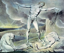 Illustrations of the Book of Job; Satan smiting Job with Sore Boils von William Blake