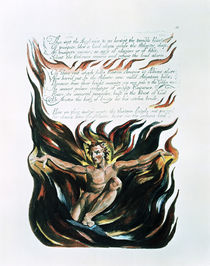America a Prophecy; 'Thus wept the Angel voice' von William Blake