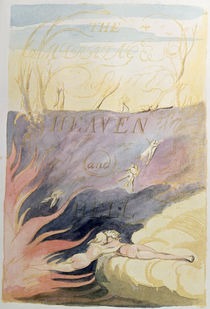 The Marriage of Heaven and Hell; title-page von William Blake