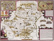 Hartfordshire and the situation of Hartford von John Speed
