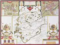 Rutlandshire with Oukham and Stanford by John Speed