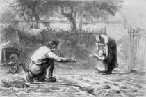 The First Steps  by Jean-Francois Millet