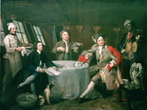 Captain Graham in his Cabin  by William Hogarth