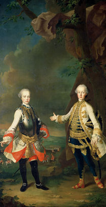 Joseph and Leopold by Martin II Mytens or Meytens