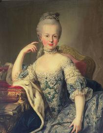 Archduchess Marie Antoinette Habsburg-Lotharingen  by Martin II Mytens or Meytens