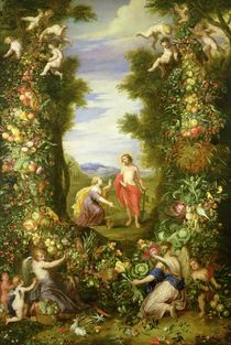 Christ and Mary Magdalene  by Jan Brueghel the Elder