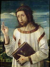 Christ Blessing  by Giovanni Bellini
