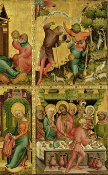 The Annunciation to the Shepherds and the Marriage at Cana by Master Bertram of Minden
