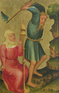 Adam and Eve at Work by Master Bertram of Minden