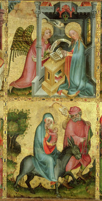 The Annunciation and the Flight into Egypt von Master Bertram of Minden