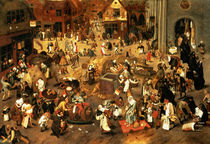 The Battle between Carnival and Lent  von Pieter Brueghel the Younger