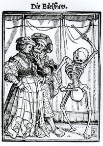 Death and the Noblewoman von Hans Holbein the Younger