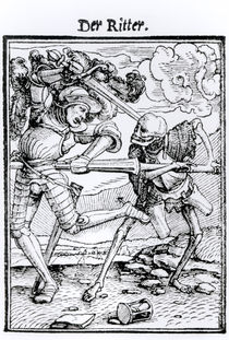 Death and the Knight von Hans Holbein the Younger