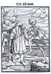 Death and the Old Man von Hans Holbein the Younger