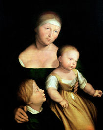 The Artist's Wife and Children von Hans Holbein the Younger