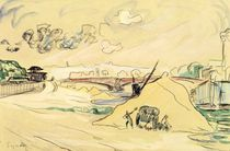 The Pile of Sand by Paul Signac