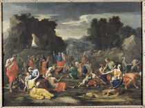 The Gathering of Manna von Nicolas Poussin