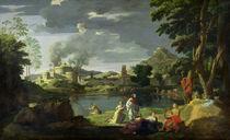 Orpheus and Eurydice  von Nicolas Poussin