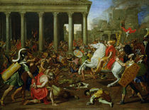 The Destruction of the Temples in Jerusalem by Titus von Nicolas Poussin