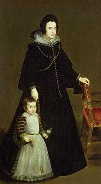 Dona Antonia de Ipenarrieta y Galdos  von Diego Rodriguez de Silva y Velazquez